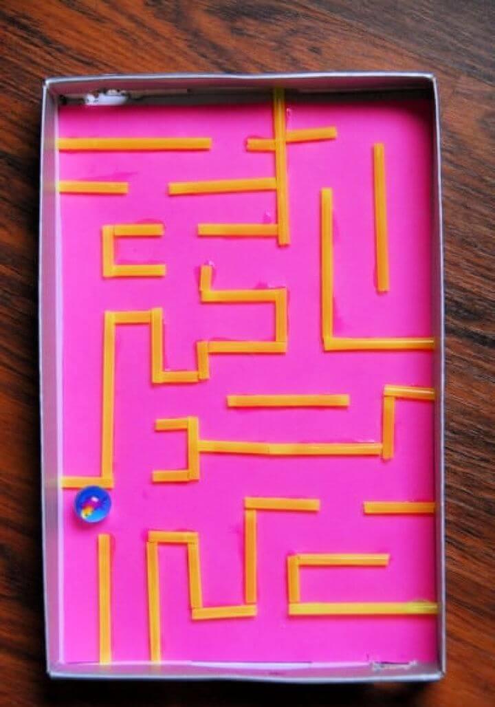 Marble Maze Shoe Box
