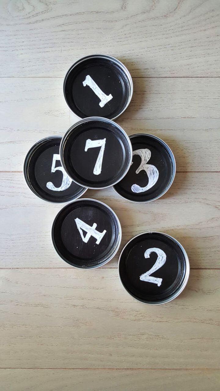 Mason Jar Coasters Chalkboard Paint