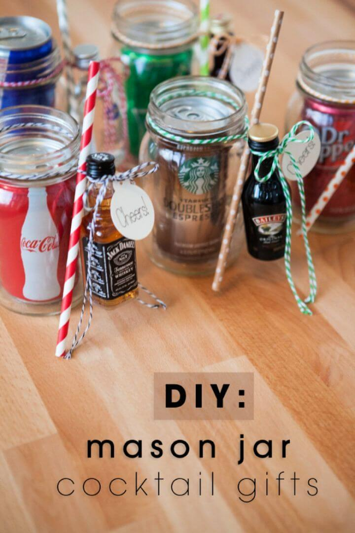 Mason Jar Cocktail Gifts For Valentines