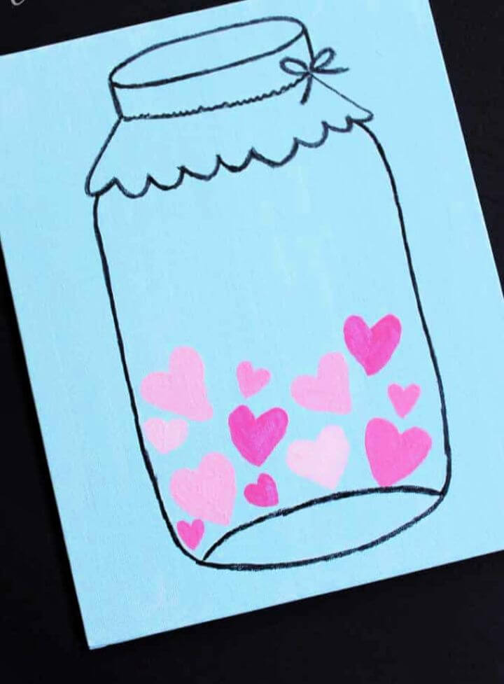 Mason Jar Valentine's Day Art