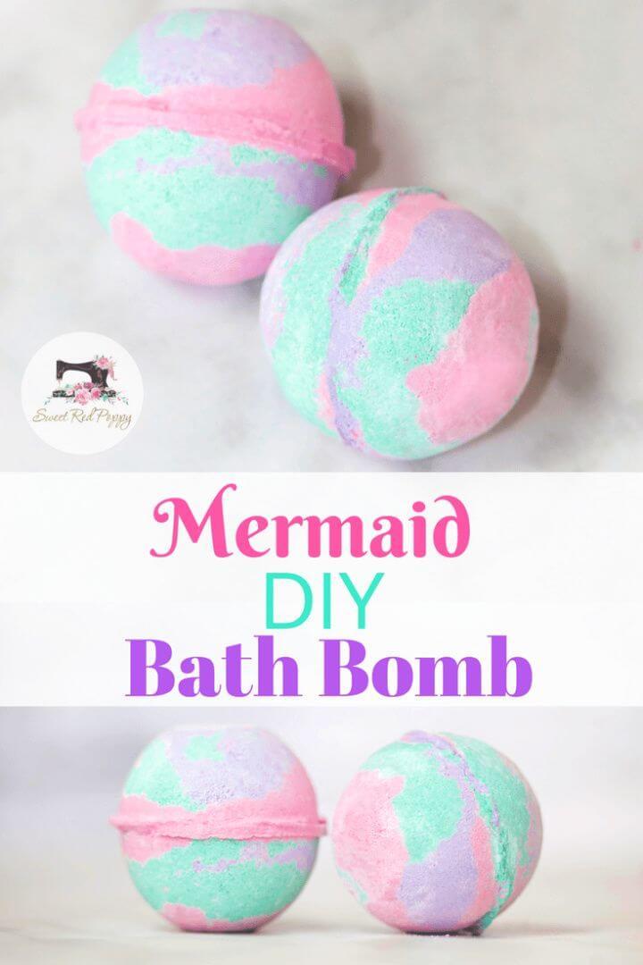 Mermaid Bath Bomb Tutorial