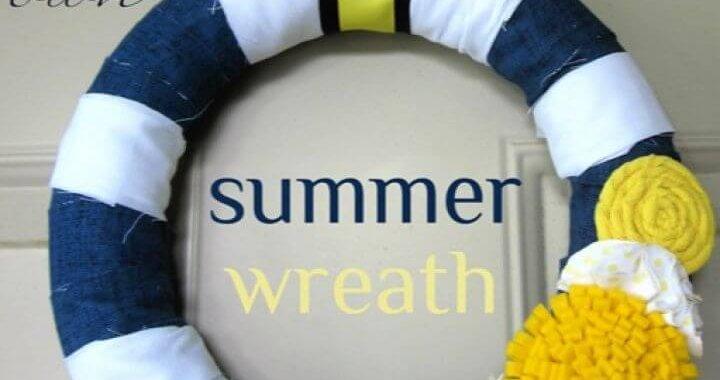 Navy Yellow Summer Wreath