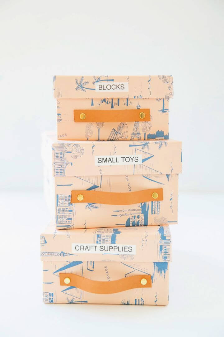 Organize With Recycled Shoe Boxes