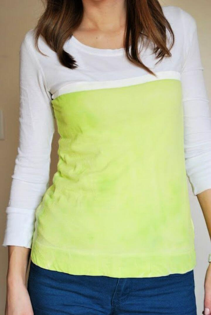Painted Color Block Top