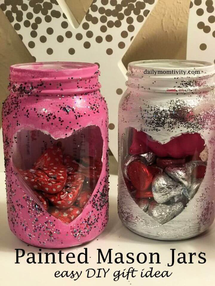 Painted Mason Jars The Perfect Diy Valentine's Day Gift