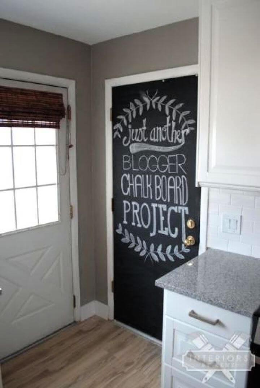 Painting A Chalkboard Door