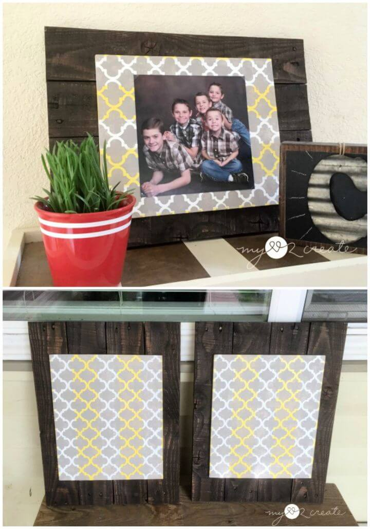 Pallet and Scrap Wood DIY Picture Frames