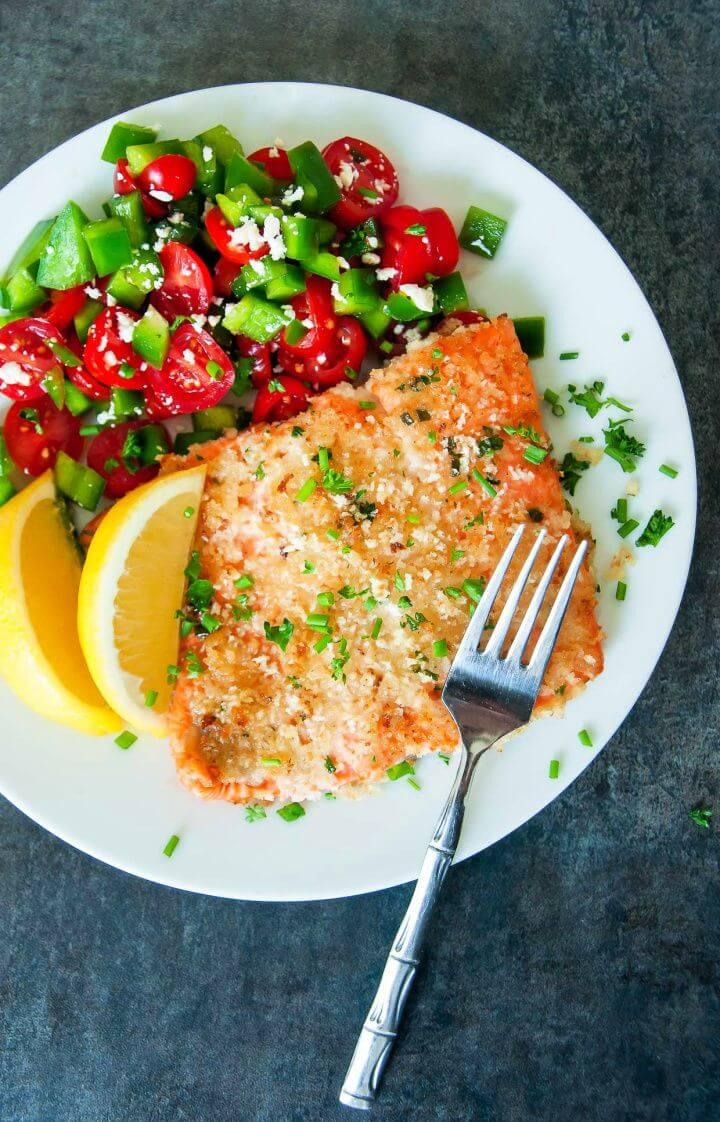 Panko Herb Crusted Dijon Salmon