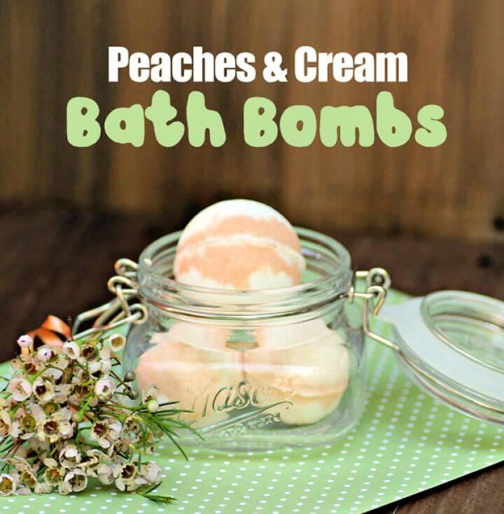 Peaches And Cream Bath Bombs