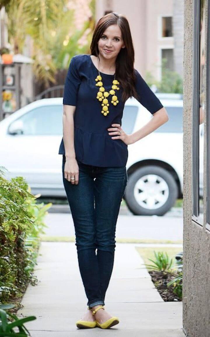 Peplum Top Refashion Of T Shirt