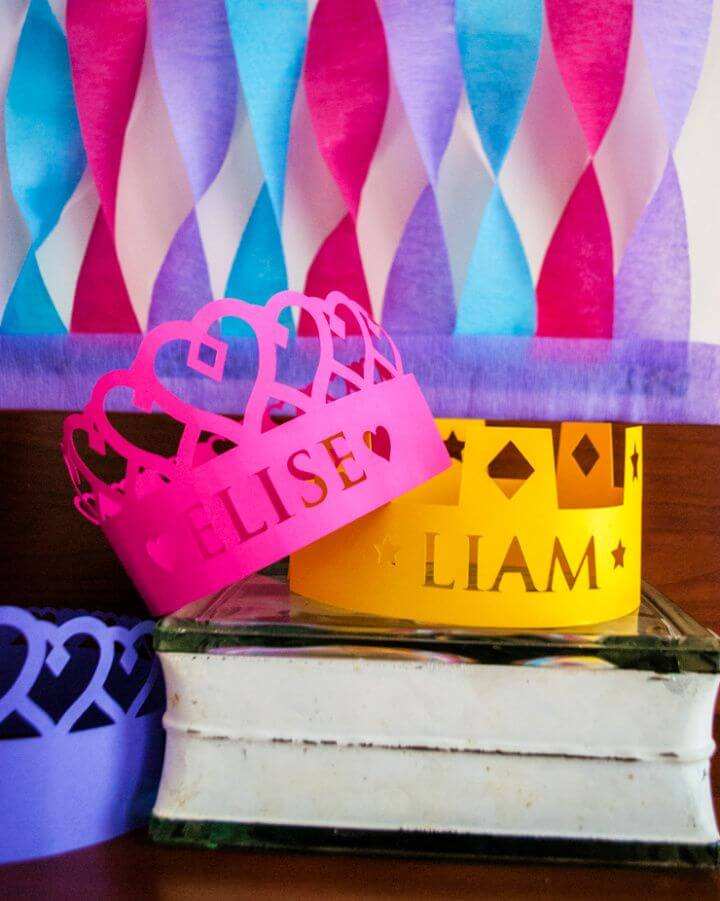 Personalized Crowns For A Princess Birthday Party