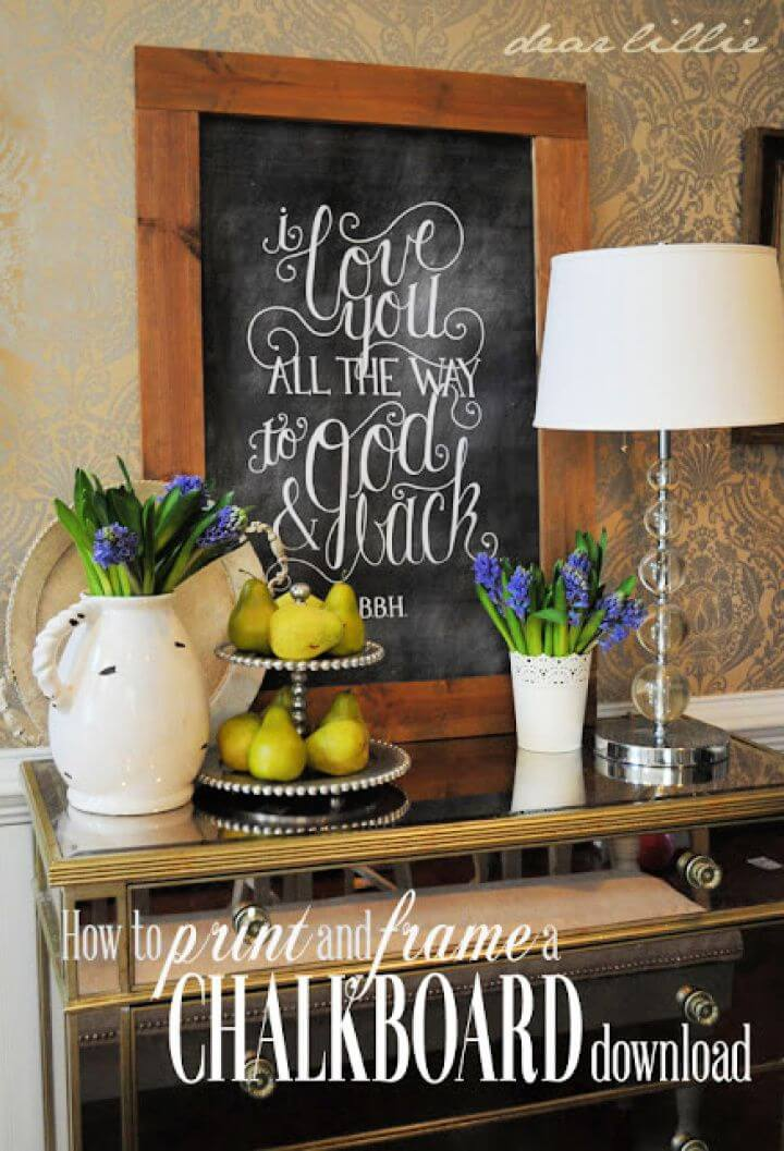 Printed And Framed Chalkboard Tutorial