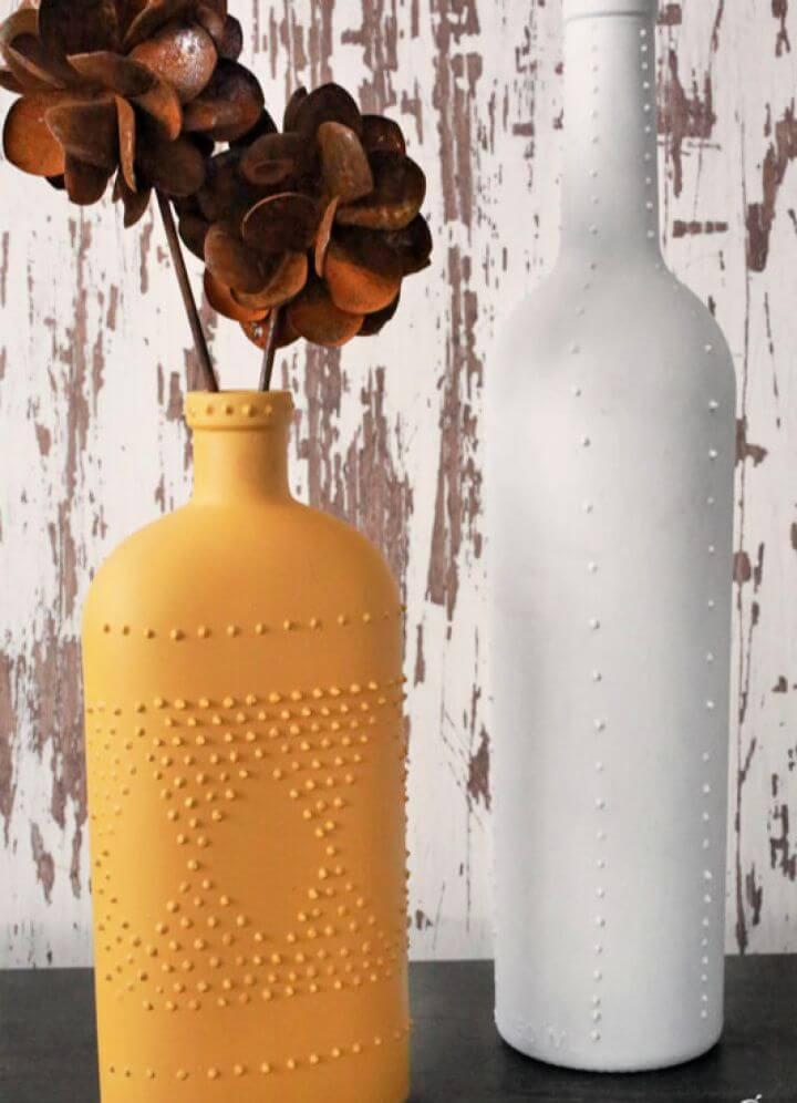 Puff Paint Wine Bottle Project