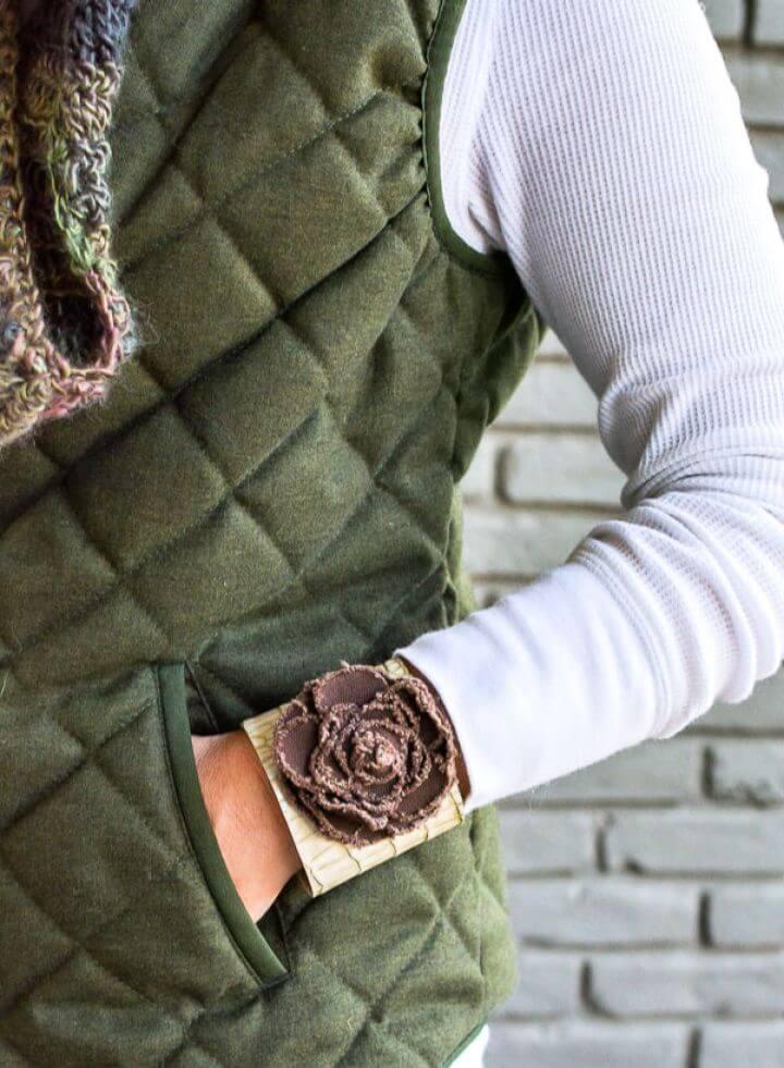 Purge To Project Closet Castoffs To DIY Cuff Bracelet