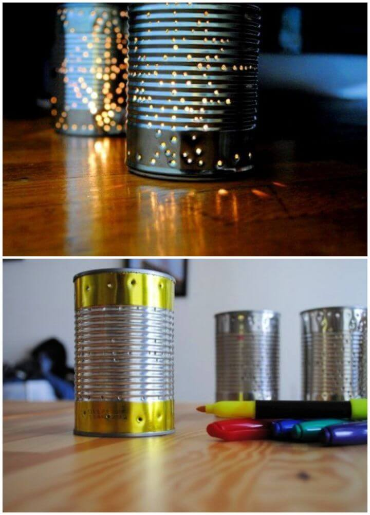 Recycle a Tin Can Into a Gorgeous Outdoor Lantern for Summer Parties