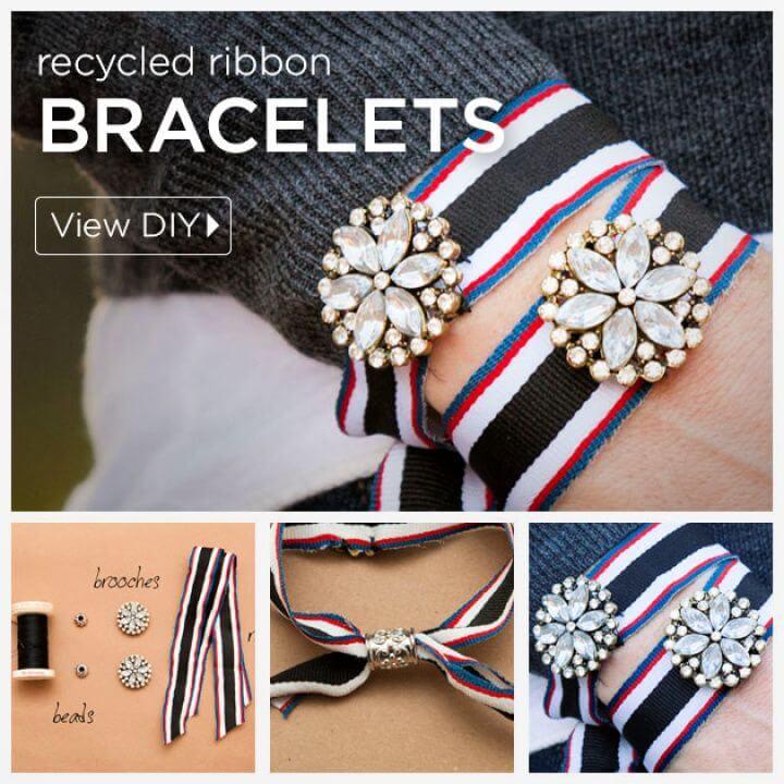 Recycled Ribbon Bracelet