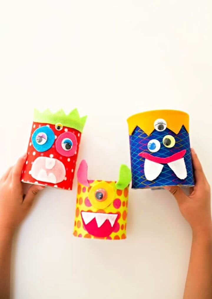 Recycled Tin Can Felt Monster Craft