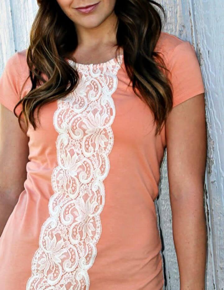 Refashion – Easy Lace Shirt