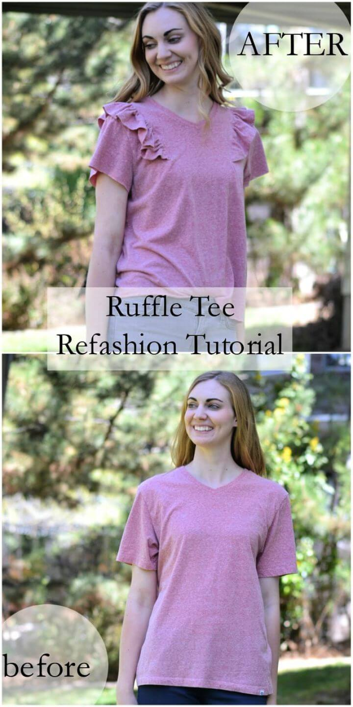 Ruffle Tee Refashion Tutorial
