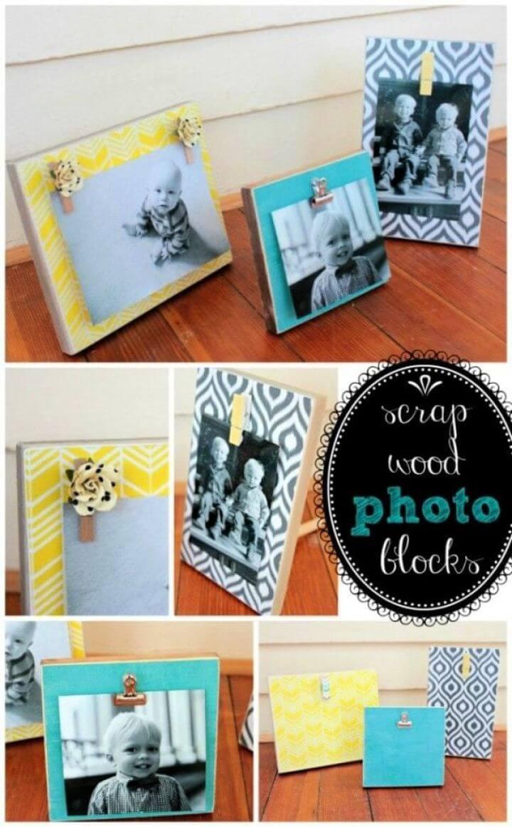 Scrap Wood Photo Blocks