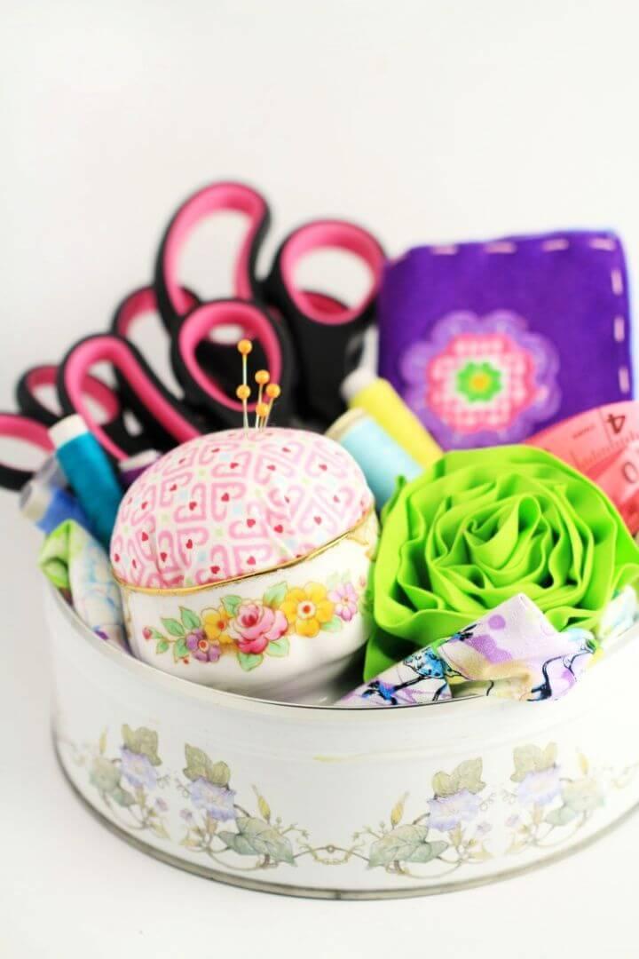 Sewing Gift Basket
