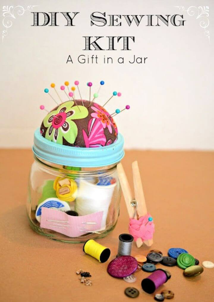 Sewing Kit Gift In A Jar Plus A Favorite Things Giveaway