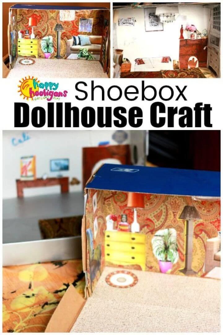 Shoebox Dollhouse Craft for Kids