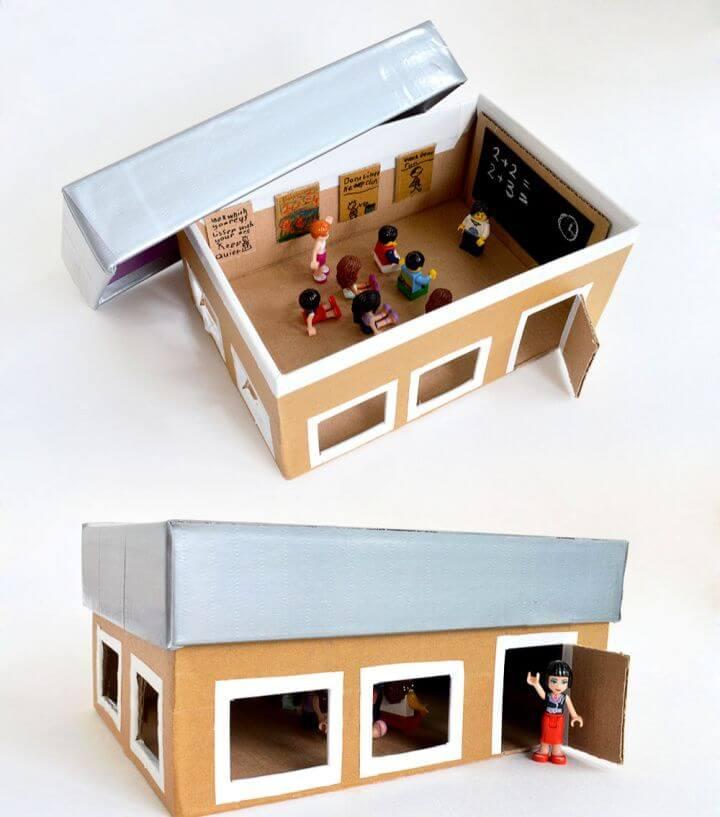 Shoebox School For Pretend Play
