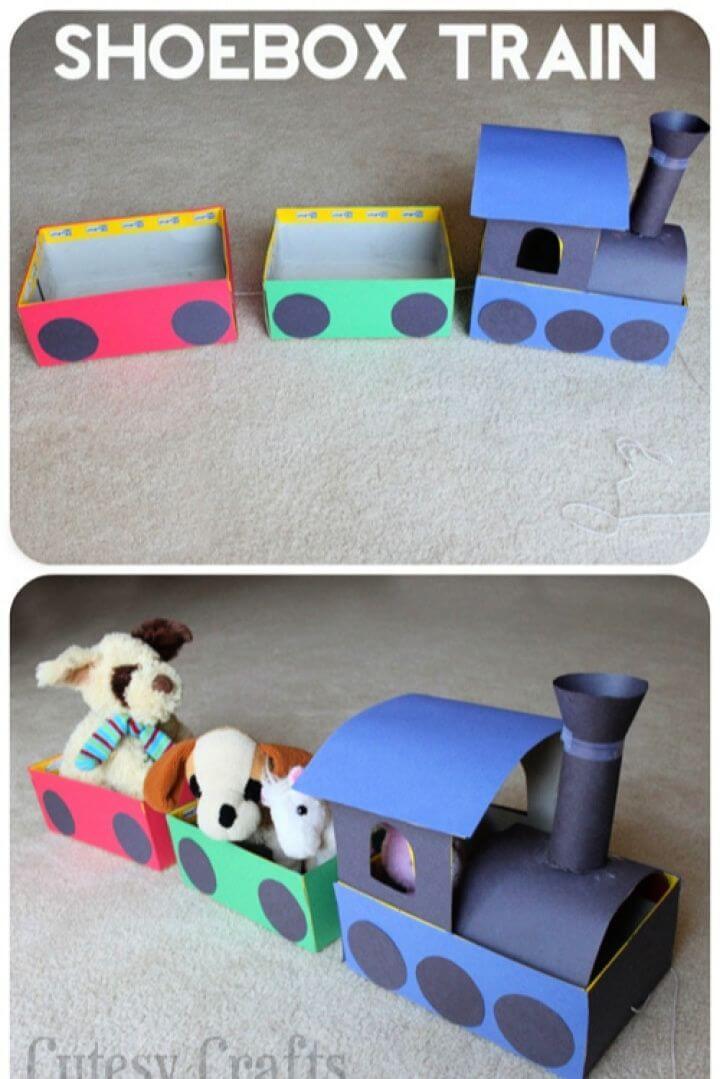 Shoebox Train Craft for Kids