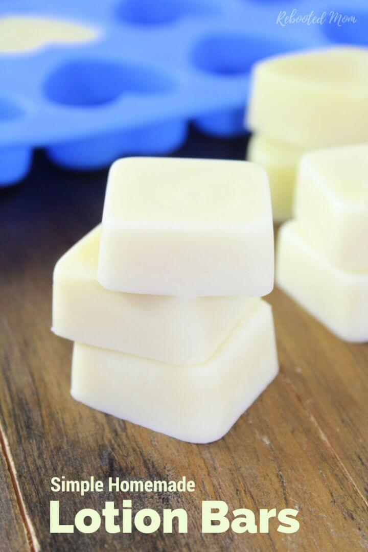 Simple And Easy DIY Homemade Lotion Bars