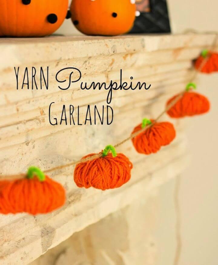 Simple DIY Yarn Pumpkins
