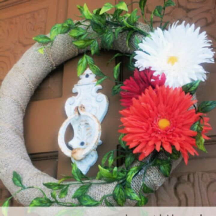 Simple Summer Burlap Wreath