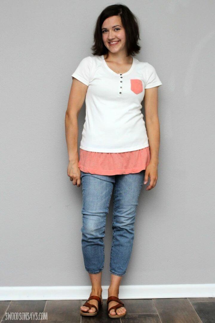 Simple T Shirt Refashion 1