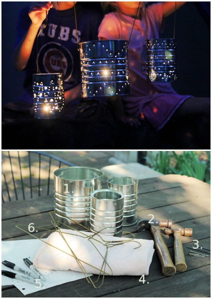 Simple Tin Can Lanterns Craft