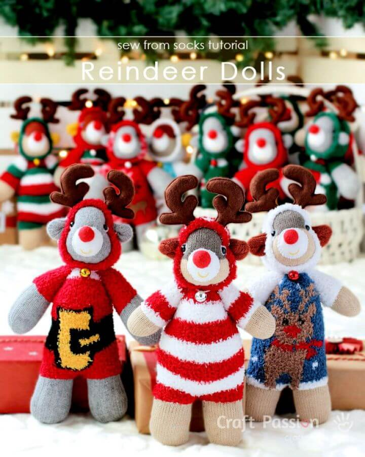 Sock Reindeer Pattern