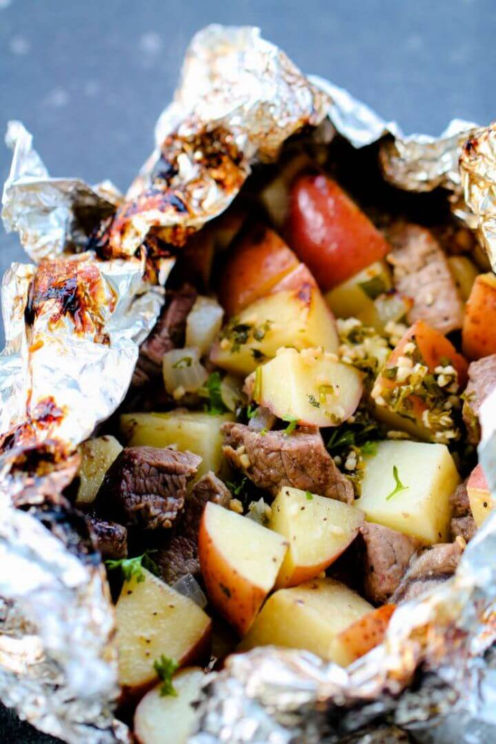 Steak And Potato Foil Pack Dinners
