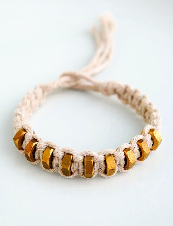 String Hexnut Bracelet