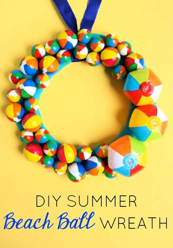 Summer Beach Ball Wreath
