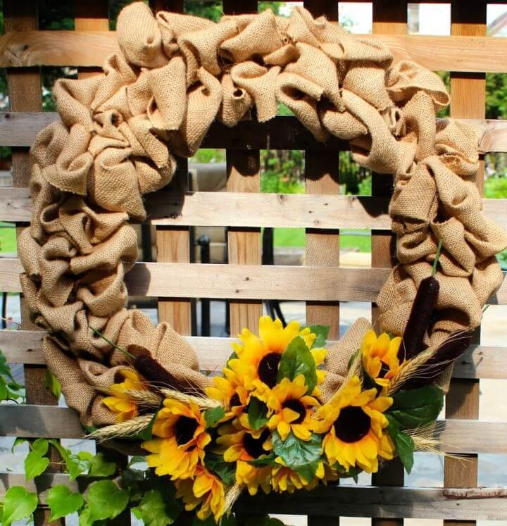Summer Burlap DIY Wreath