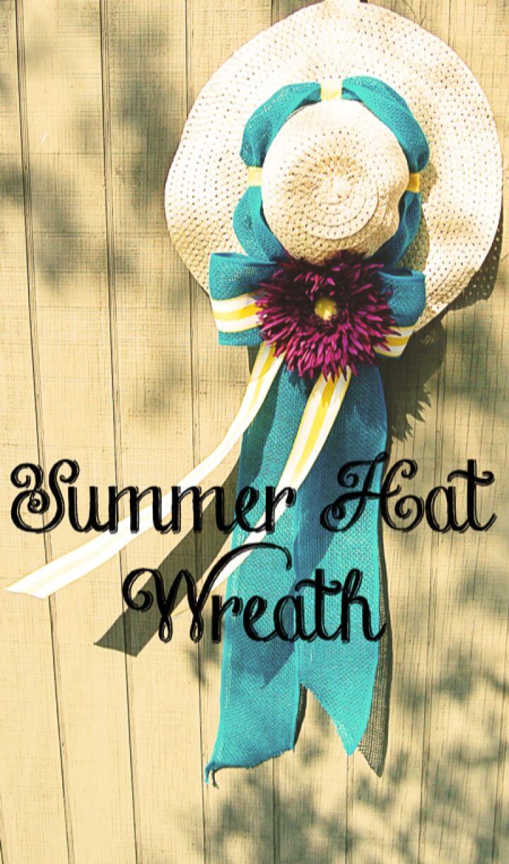 Summer Hat Wreath Tutorial