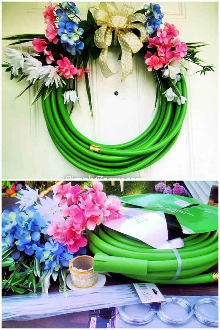 Summer Water Hose Wreath
