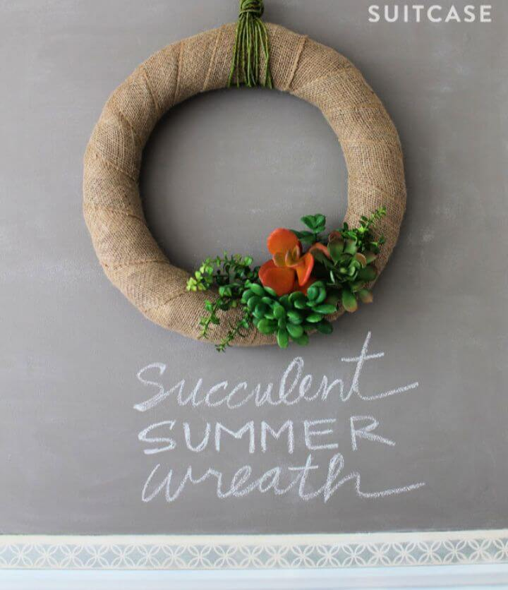 Summer Wreath Made With Succulents