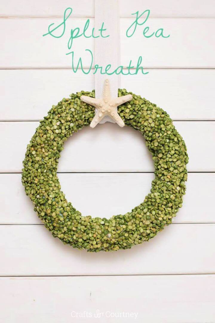 Summer Wreath With Split Peas In Four Easy Steps