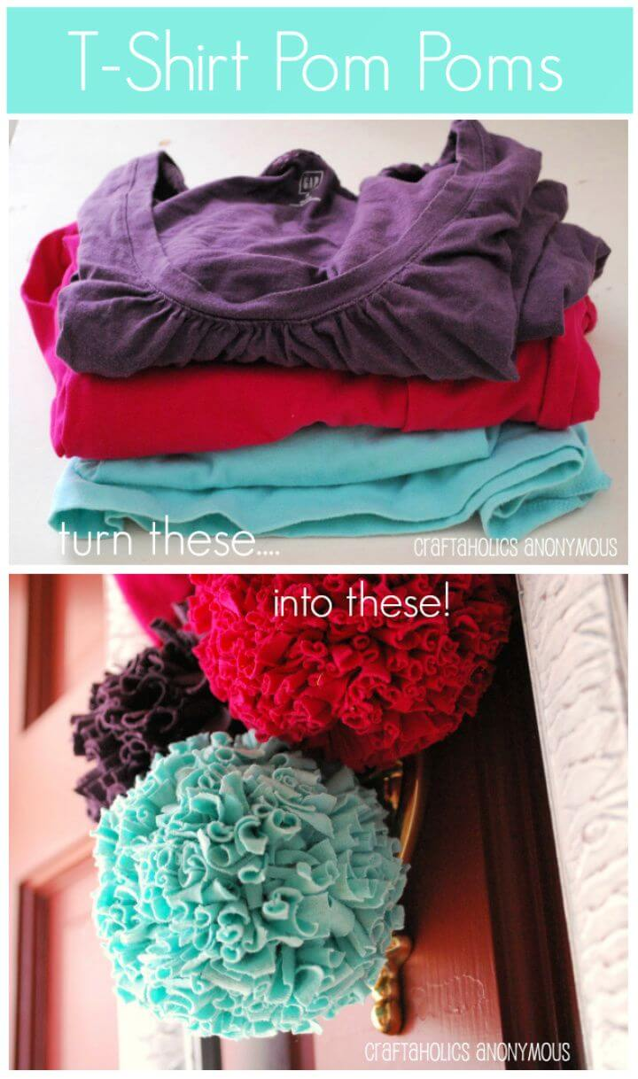 T shirt Pom Poms Tutorial