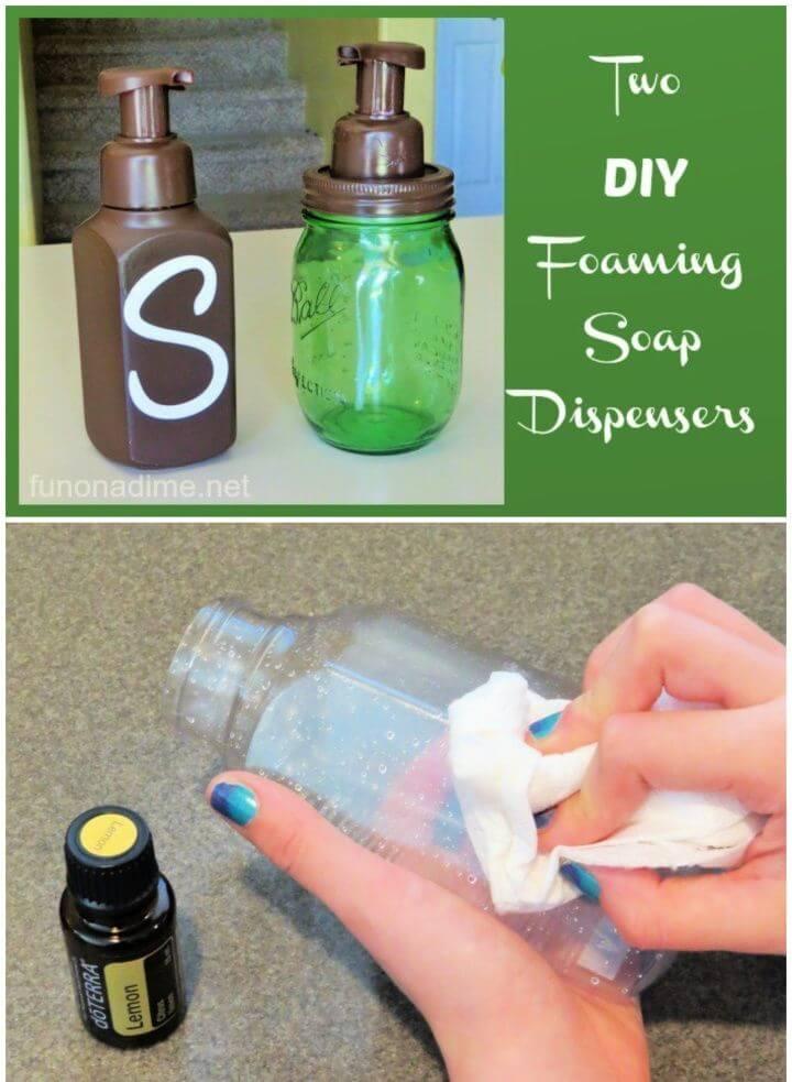 Two DIY Foam Soap Dispensers Tutorial