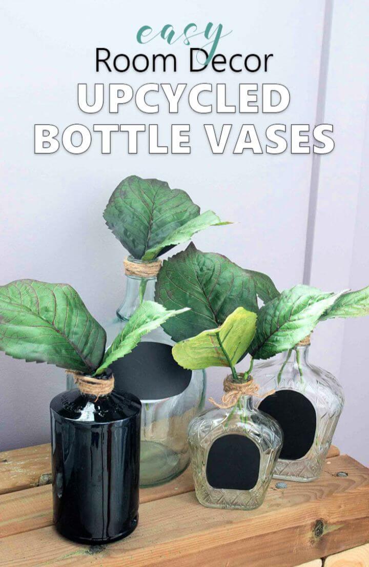 Upcycled Wine Bottle Crafts
