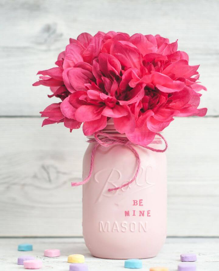 Valentine's Day Mason Jar Decor Or Gift Jars