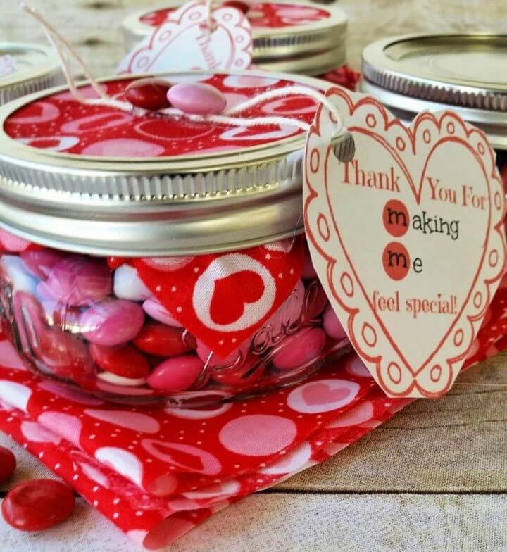 Valentine's Day Mm Mason Jar Gift