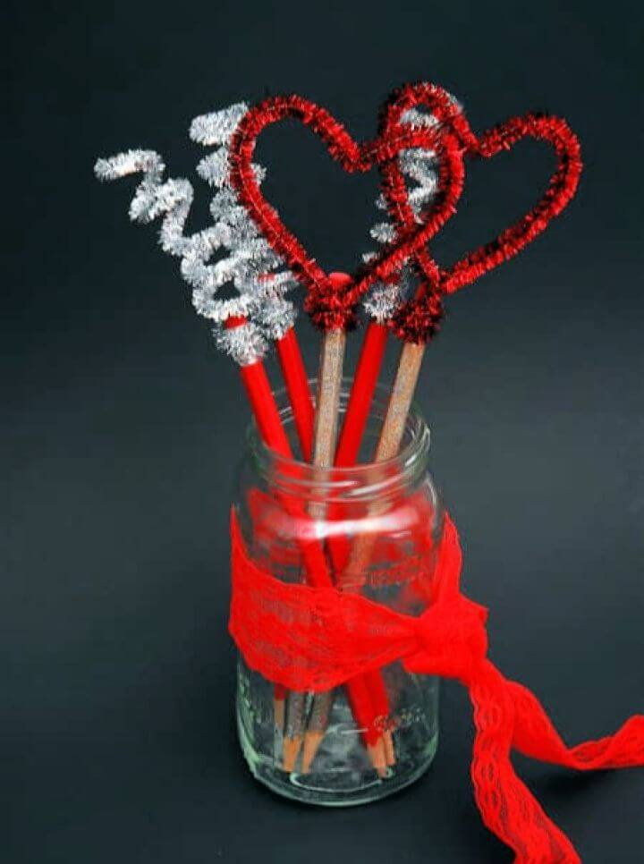 Valentines Day Pencil Toppers