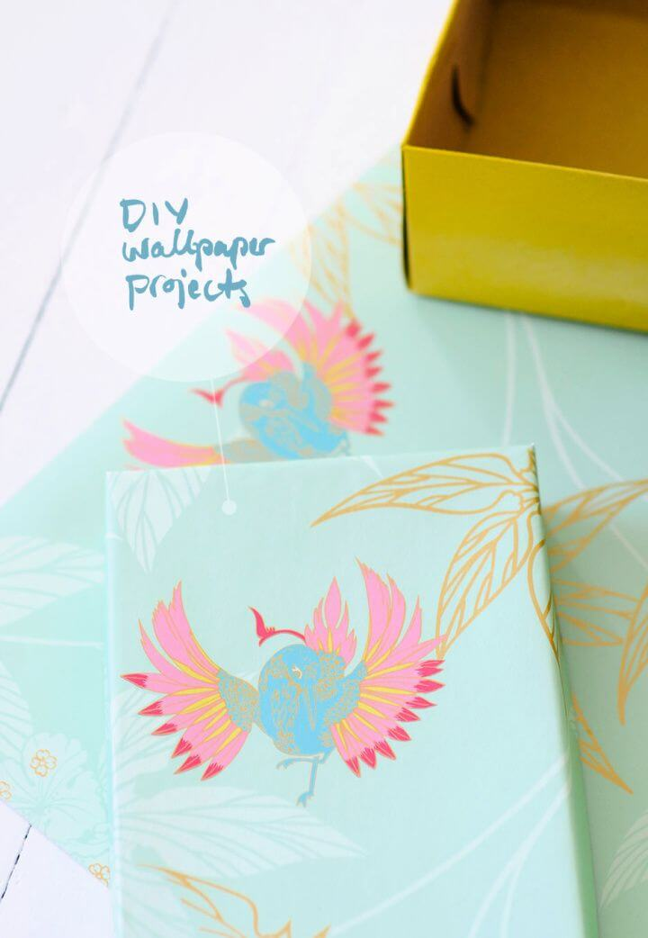 Wallpaper Shoe Boxes Projects